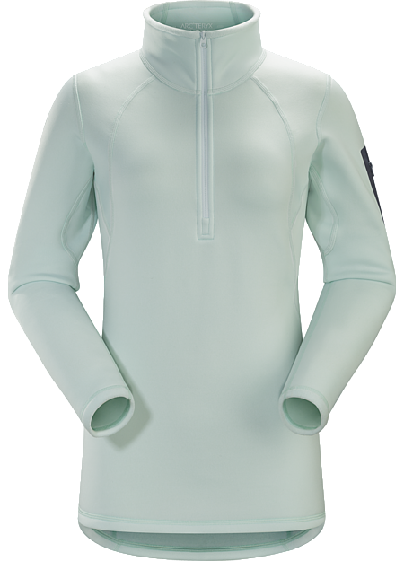 Breathable, moisture-wicking, insulated jersey with collar zip to aid with temperature regulation