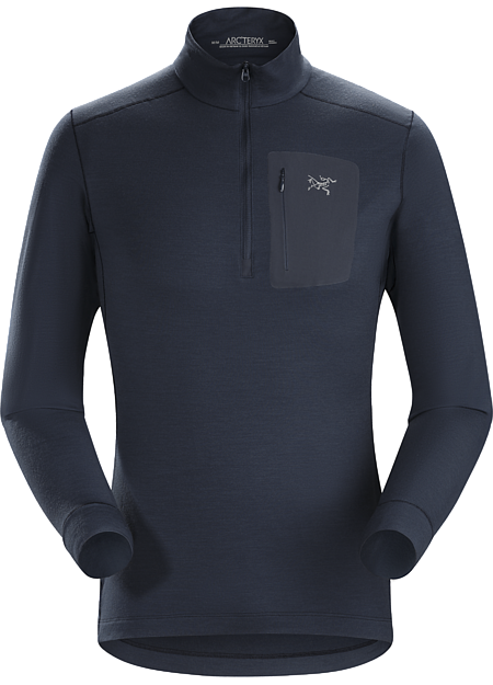 Satoro AR Zip Neck Shirt LS Men's Nighthawk