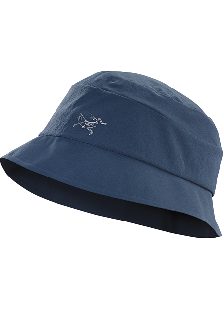 Lightweight, stretch nylon sun hat with soft, pliable brim that easily compresses to fit in a pack or pocket.