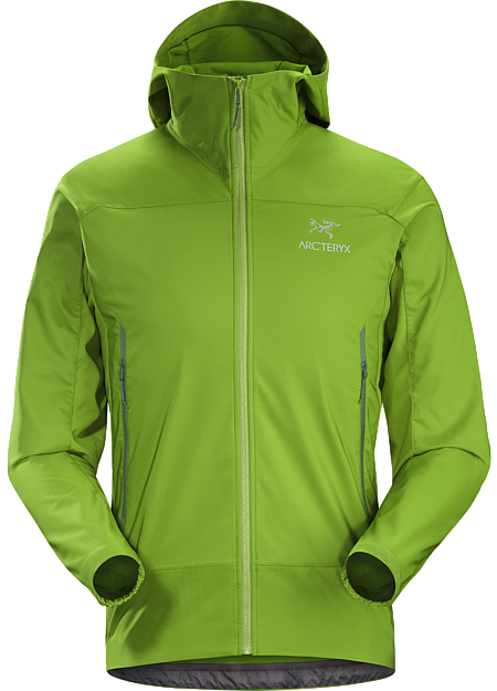Tenquille Hoody Men's Lightweight, packable, wind resistant Kauss™ softshell hoody with air permeable, stretch side panels. Designed for hiking and trekking in windy, cool conditions.