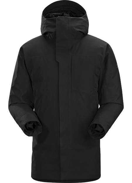 Therme Parka Men's A masterpiece of urban style combining fully waterproof and windproof/breathable GORE-TEX® fabric with premium goose down and synthetic insulations.