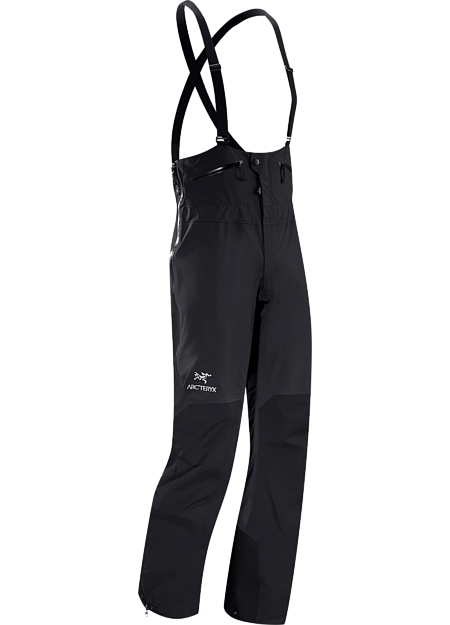 Durable, waterproof/breathable bib-style pant in GORE-TEX® Pro reinforced with more rugged face fabric; Ideal in harsh weather conditions. Theta Series: All-round mountain apparel with increased coverage | SV: Severe Weather.