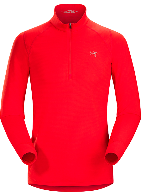 Polartec® Power Dry® midweight fleece zip neck takes the chill out of cold weather training sessions.