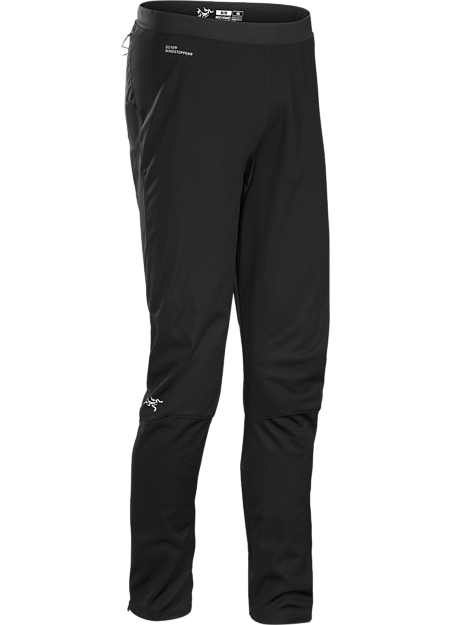 Trino Tight Men's GORE® WINDSTOPPER® mountain training tight for windy, cool, damp conditions.