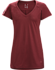 A2B V-Neck Shirt SS Women's Scarlet