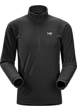Delta LT Zip Neck Men's Black