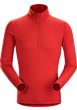 Phase SL Zip Neck LS Men's Vermillion