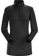 Phase SL Zip Neck LS Women's Black