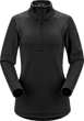 Rho AR Zip Neck Women's Black