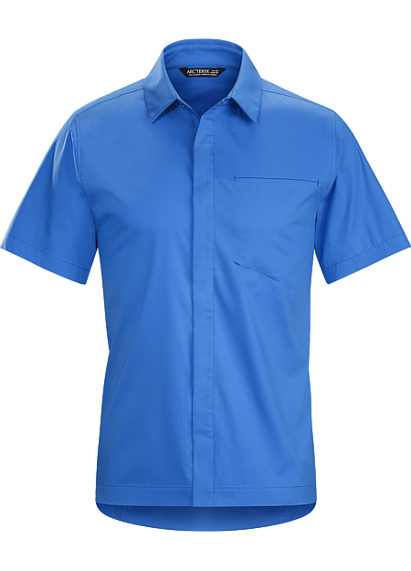 A2B Shirt SS Men's Bike commuter's short-sleeve button down in a technical cotton blend fabric.