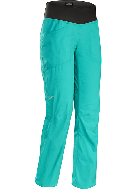 Levita Pant Women's Lightweight stretch canvas climbing pant with casual style for wear around town.