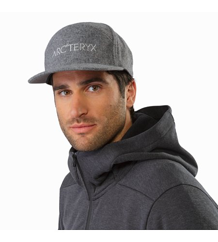 7 Panel Wool Ball Cap Heather Grey Front View
