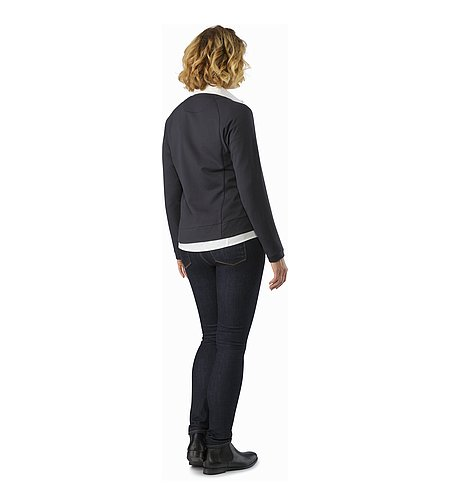 A2B Cardigan Women's Black Back View