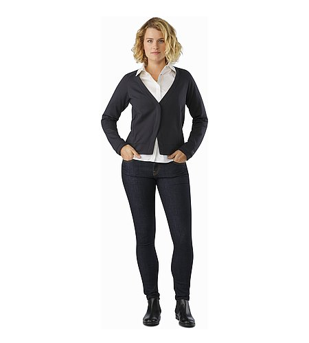 A2B Cardigan Women's Black Front View