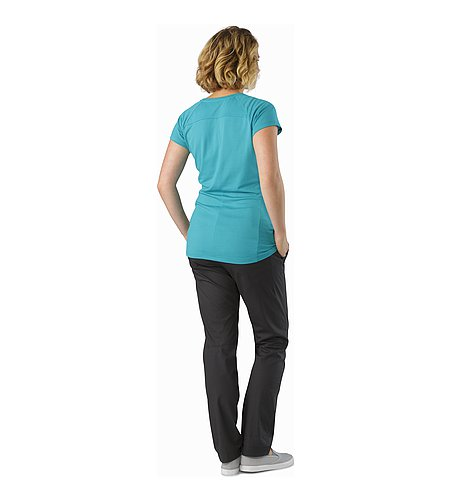 A2B Chino Pant Women's Charcoal Back View