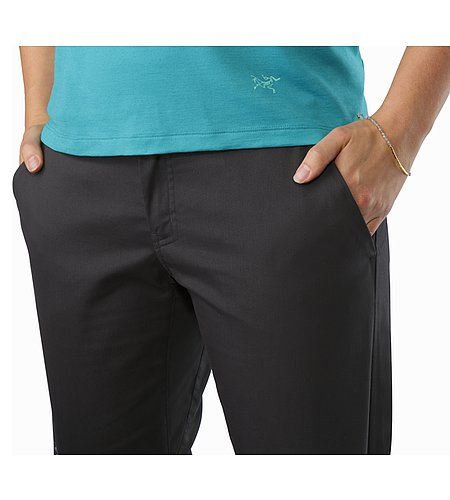 A2B Chino Pant Women's Charcoal Hand Pockets