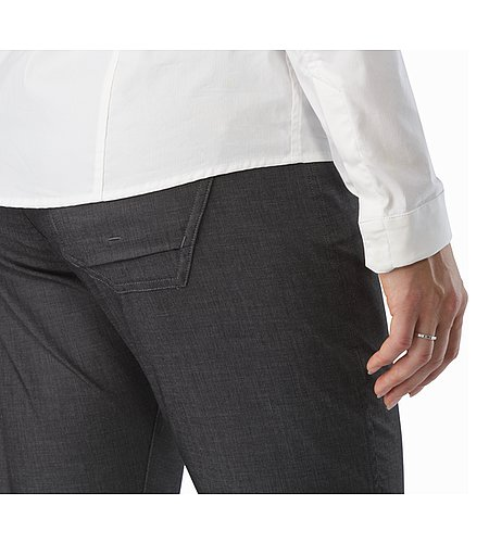 A2B Commuter Pant Women's Carbon Fibre External Pocket Back