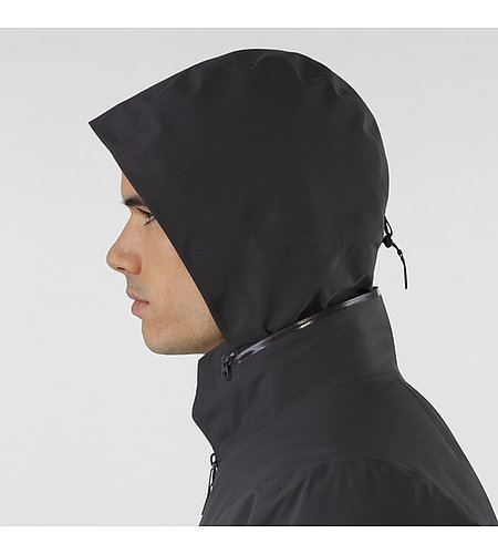 Achrom IS Jacket Soot Hood Side View