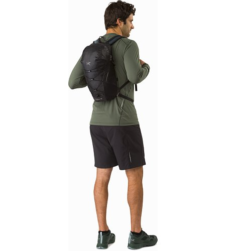 Aerios 10 Backpack Raven Back View