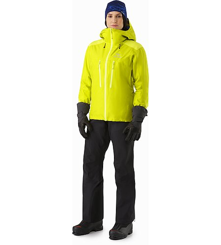 Alpha AR Jacket Women's Chartreuse Front View
