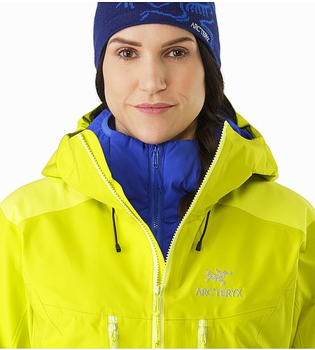 Alpha AR Jacket Women's Chartreuse Open Collar