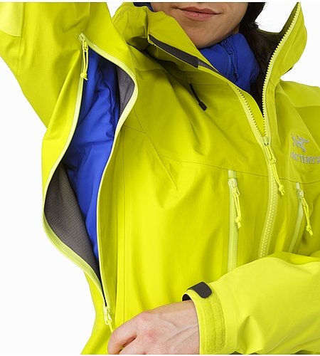 Alpha AR Jacket Women's Chartreuse Pit Zip