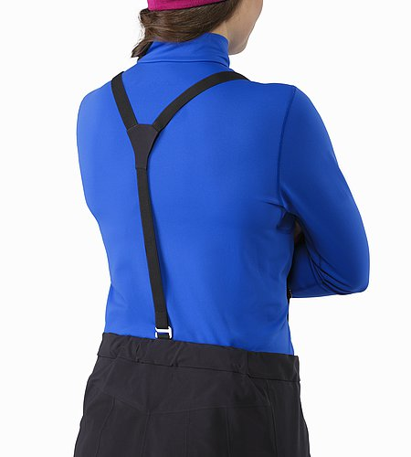 Alpha AR Pant Women's Black Back Suspenders Details