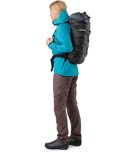 Alpha FL 30 Backpack Black Side View