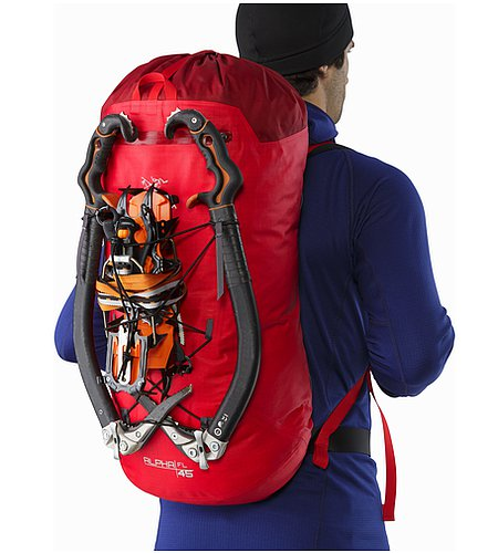 Alpha FL 45 Backpack Cayenne Back View