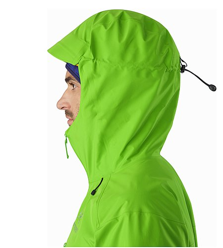 Alpha FL Jacket Rohdei Helmet Compatible Hood Side View