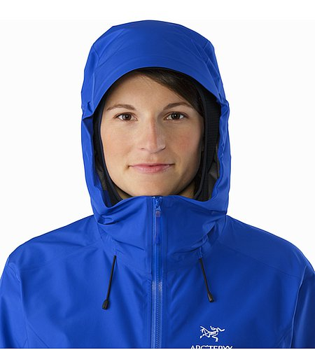 Alpha FL Jacket Women's Somerset Blue Hood Front View