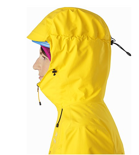 Alpha SL Jacket Women's Golden Poppy Helmkompatible Kapuze Seitenansicht