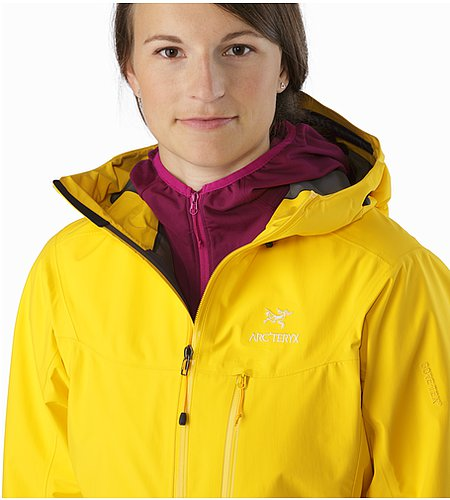 Alpha SL Jacket Women's Golden Poppy Offener Kragen