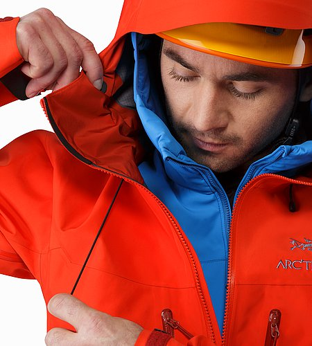Alpha SV Jacket Cardinal Hood Adjuster