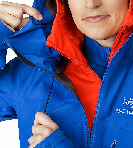 Alpha SV Jacket Women's Somerset Blue Hood Adjuster