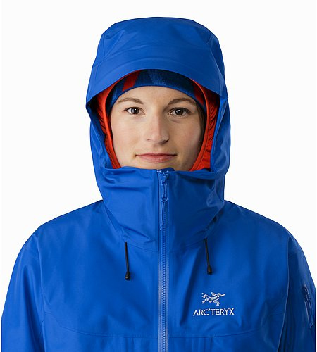 Alpha SV Jacket Women's Somerset Blue Hood Front View