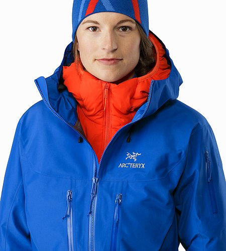 Alpha SV Jacket Women's Somerset Blue Open Collar