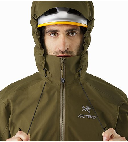 Beta AR Jacket Dark Moss Hood Adjuster