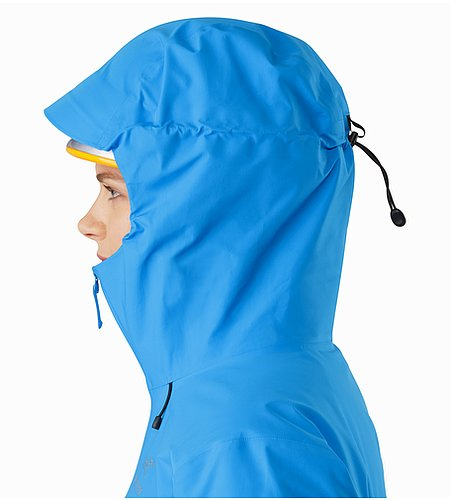 Beta LT Jacket Women's Baja Helmet Compatible Hood Side View 2