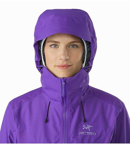 Beta sl hybrid jacket women s mauveine hood front view