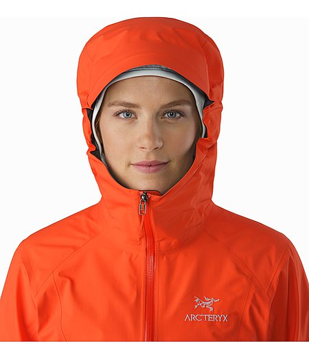 Beta SL Jacket Women's Fiesta Hood Front View