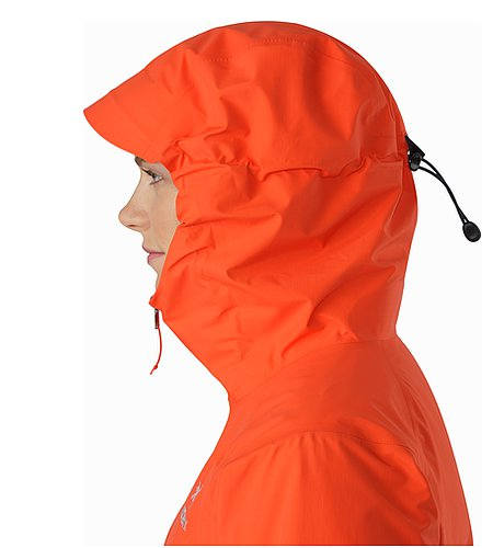 Beta SL Jacket Women's Fiesta Hood Side View