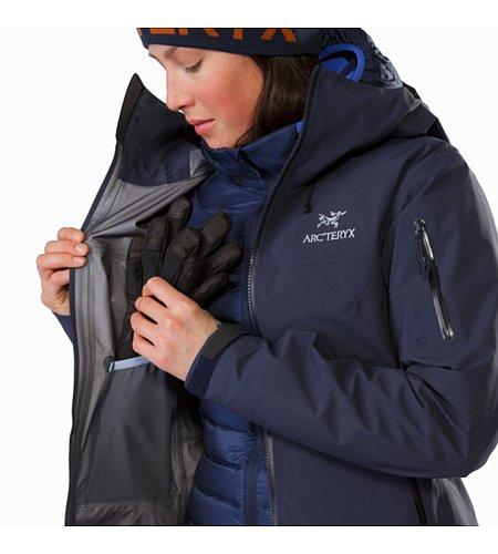 Beta sv jacket women s black sapphire internal dump pocket