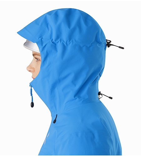 Beta SV Jacket Women's Cedros Blue Helmet Compatible Hood Side View 2
