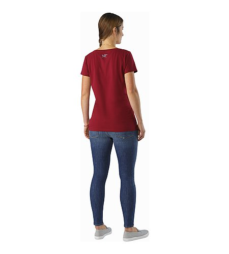 Block T-Shirt Women's Scarlet Back View