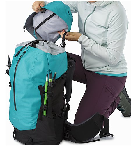 Bora AR 49 Backpack Women's Castaway Removable Lid