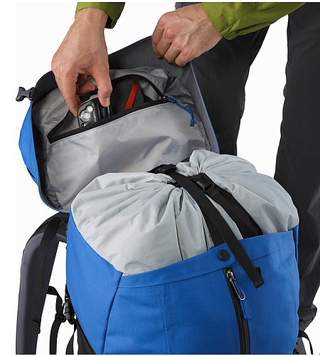 Bora AR 50 Backpack Borneo Blue Internal Lid Pocket