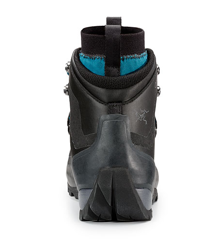 Bora Mid GTX Hiking Boot Women's Black Mid Seaspray Rear View