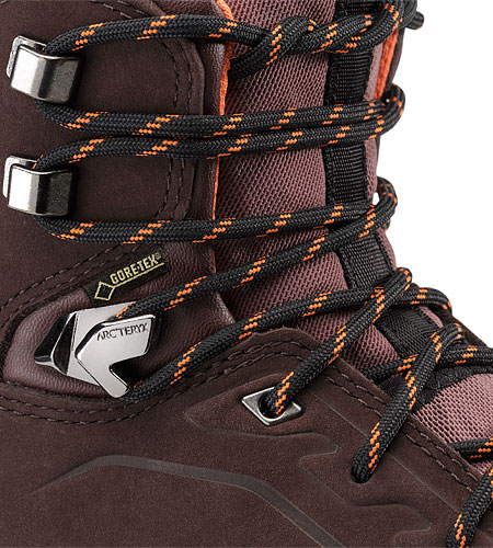 Bora Mid Leather GTX Hiking Boot Women's Redwood Andromedea Eyelet Reinforcements