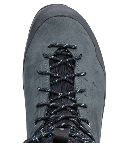 Bora2 Mid Leather Hiking Boot Grey Denim Black Rock Stopper Mesh